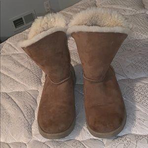 Dark tan or brown suede Ugg boots
